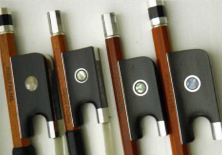 Hand crafted violin, viola and cello bows